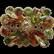 Stunning Vintage Austrian Crystal Pin