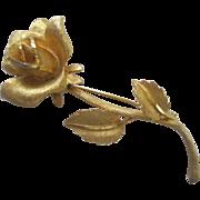 Large Vintage Rose Brooch Pin By BSK