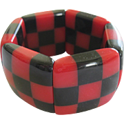 French Designed Resin Stretch Checkered Bracelet