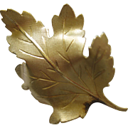 Lovely Vintage Winard 1/20 12K Gold Filled Leaf Pin Pristine