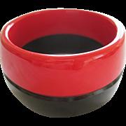 French Designed Red & Black Bangle Bracelet