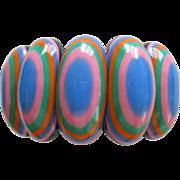 French Designed Resin Oval Shaped Stretch Bracelet
