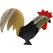 Rooster Pin By French Designer Lea Stein