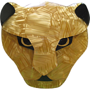 Jag The Jaguar Head Pin By French Designer Lea Stein
