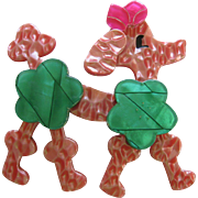 Koket The Pink Poodle Pin By French Designer Lea Stein