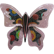 Stunning Large Butterfly Pin By French Designer Lea Stein