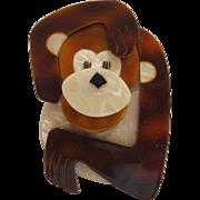 Saga The Monkey Pin By French Designer Lea Stein
