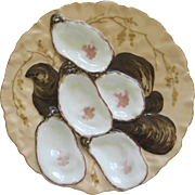 antique Porcelain Turkey Oyster Plate By Haviland Limoges