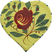 Heart Shaped Henriot Quimper Ink Well