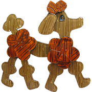Koket The Chocolate Poodle Pin By French Designer Lea Stein
