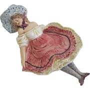 French Majolica Naughty Lady Dish
