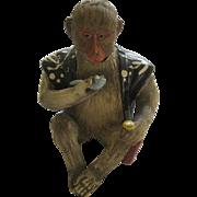 Japanese Pottery Figural Monkey Nodder