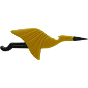 Flying Crane Heron Stork Pin By French Designer Lea Stein