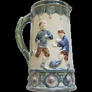 Rare Etruscan Majolica Soccer Jug