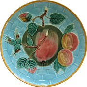Wedgwood Majolica Apple And Fruit Plate