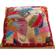 Antique Crazy Quilt Pillow