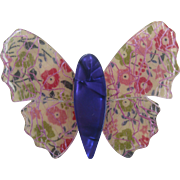 Double Winged Butterfly Pin By French Designer Lea Stein