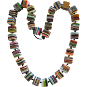 Carlos Sobral Brazil Large Cubed Resin Necklace