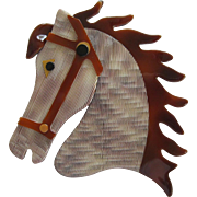 Horse Head Pin By French Designer Lea Stein