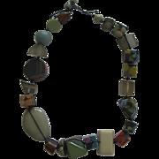 Carlos Sobral Brazil Chunky Multi Colored Indiana Resin Necklace