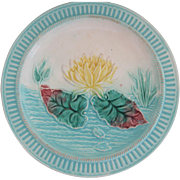 Samuel Lear Majolica Pond Lily Plate