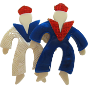Double Sailor Pin By French Designer Lea Stein