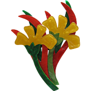 Edelweiss Flower Pin By French Designer Lea Stein