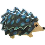 Hedgehog Or Porcupine Pin By French Designer Lea Stein