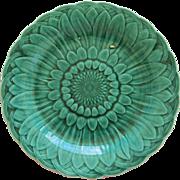 Wedgwood Majolica Green Sunflower Plate