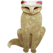 Sacha The Sitting Cat Pin By French Designer Lea Stein