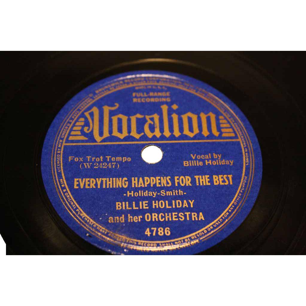"Billie Holiday  ""Under A Blue Jungle Moon""  Vocalion #4786"