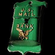 A.C. Williams Cast Iron Bank U.S. Mail Box 1921