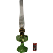 Aladdin Model B102 Green Crystal Kerosene Lamp