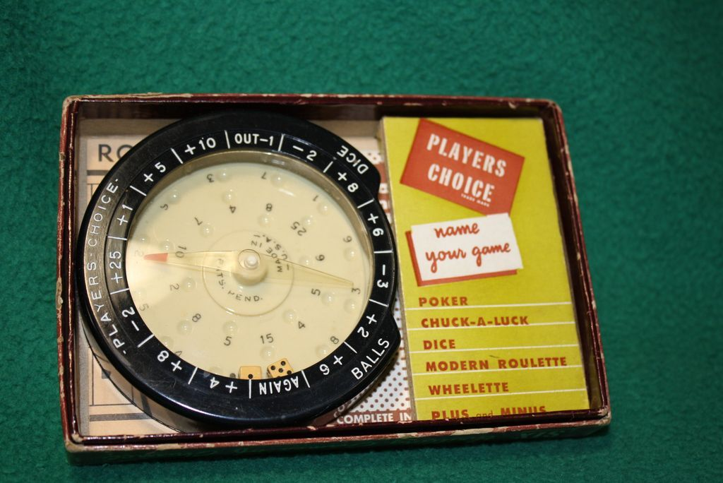 vintage roulette dice game e s lowe co from. Black Bedroom Furniture Sets. Home Design Ideas