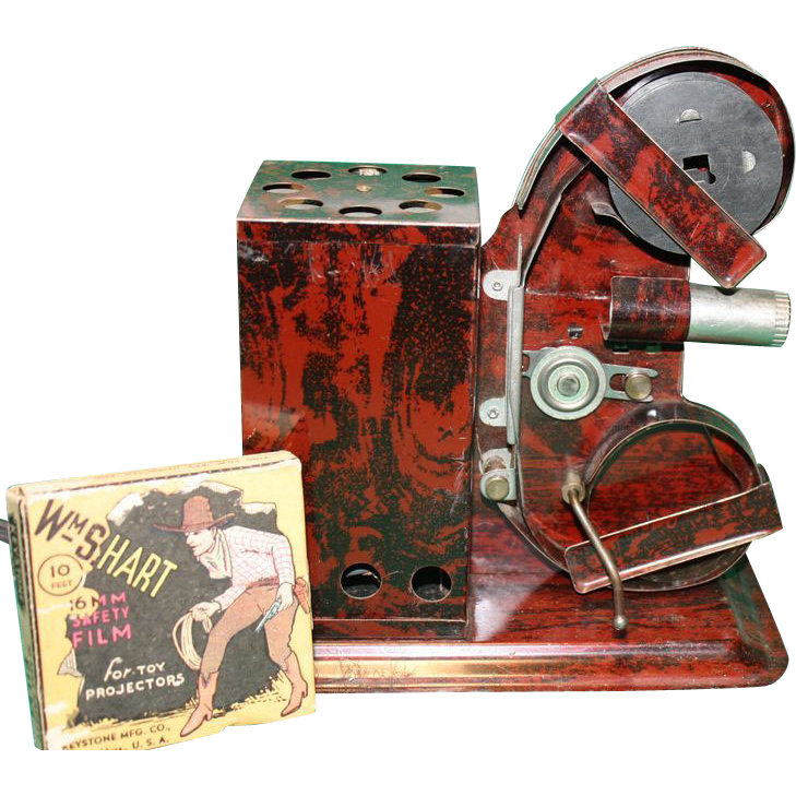 16mm Toy Projector 1930-40's with Film 1930's