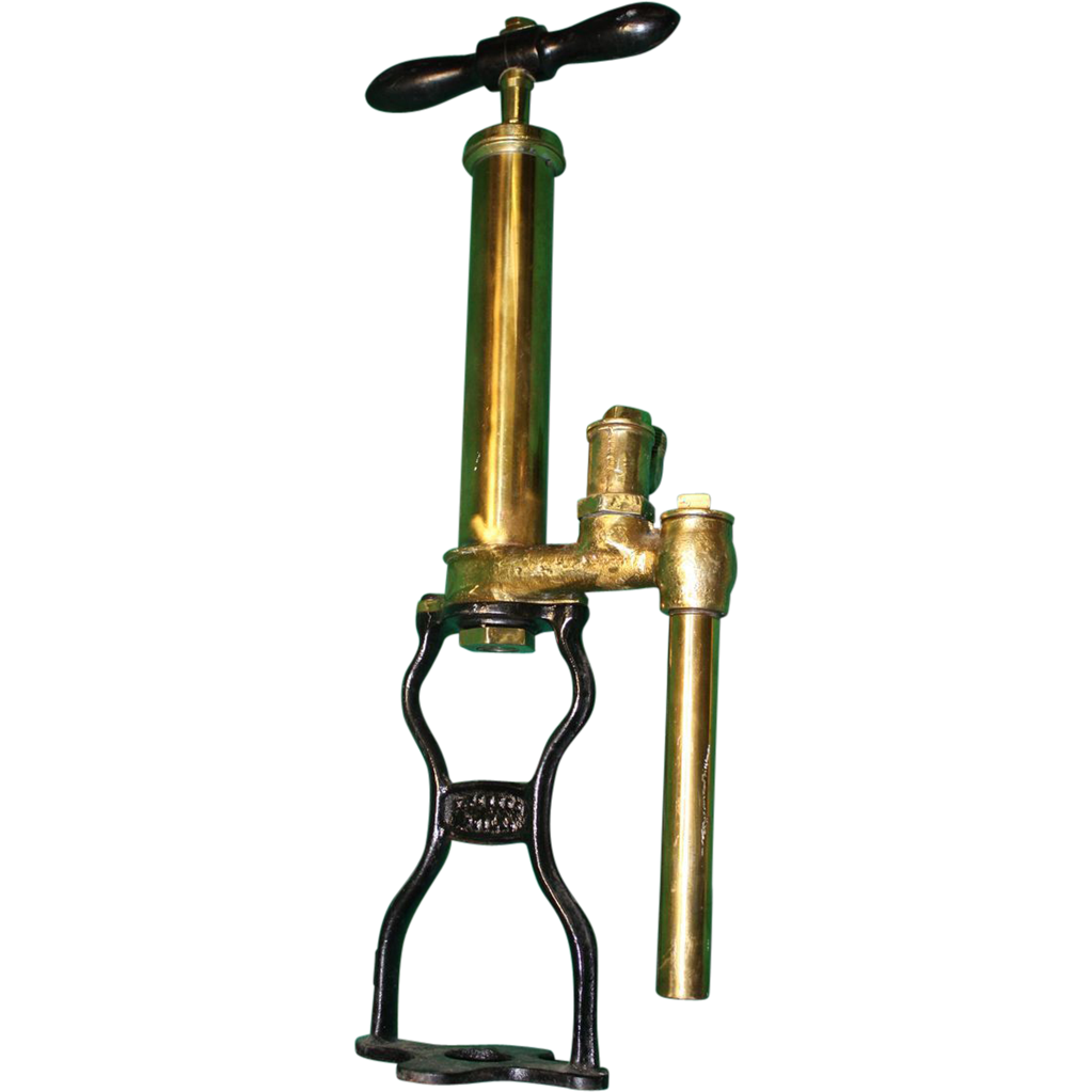 C. Perkes Brass Bilge Pump 1887-1901 Patent