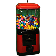 Oak Acorn Gumball Machine Original and  Restored