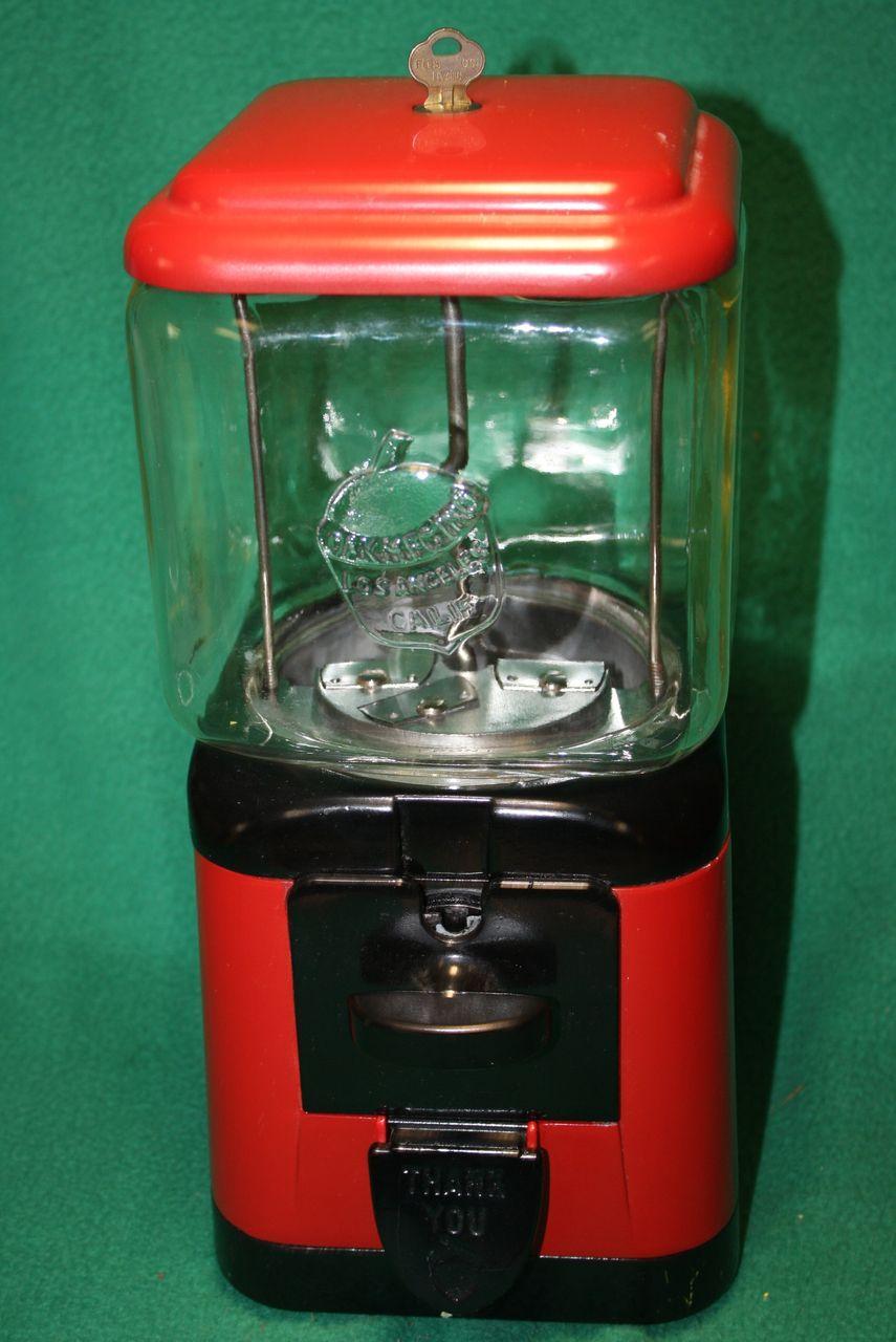 oak acorn gumball machine