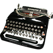 Remington 5 Streamlined Portable Typewriter 1935  Excellent