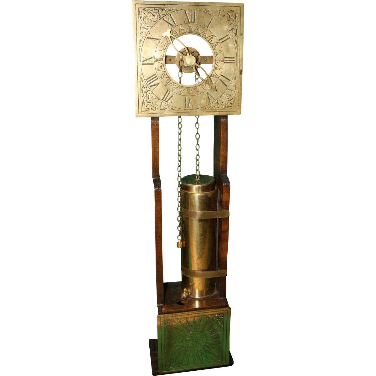 Water clock clepsydra from funcollectibles on ruby lane