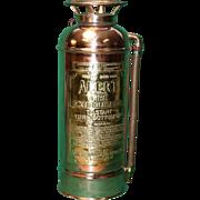 Excellent Copper / Brass Fire Vintage Extinguisher
