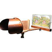 Antique 1890's Stereoviewer +50 Vintage 3D Stereoview Card Set