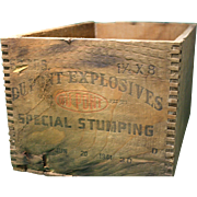 Dupont Explosives Crate 1941 Dovetail Joints