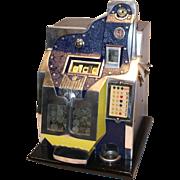 Mills Q.T. Thunderbird 21 Star Slot Machine 5¢