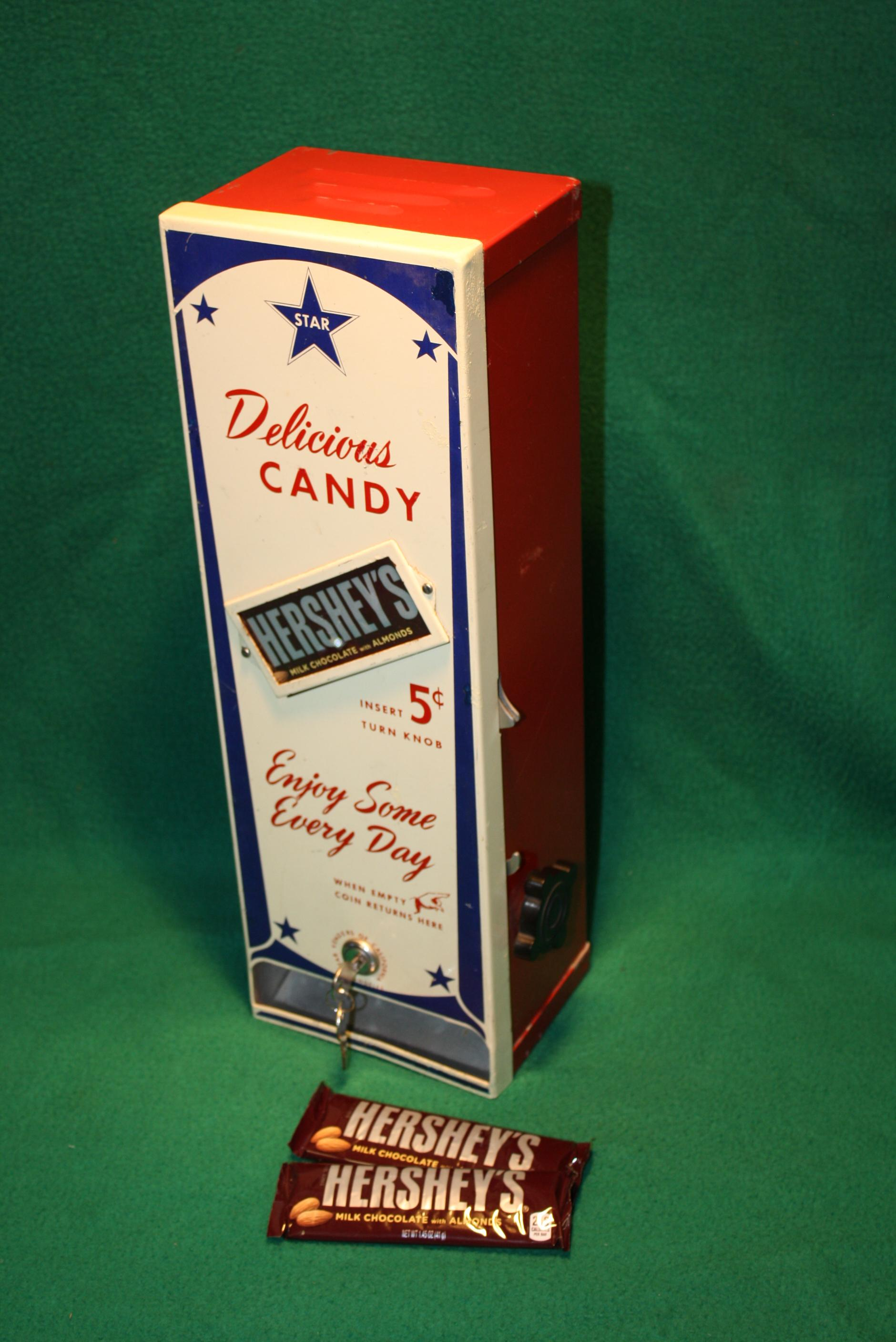 Vintage 1940 50 S Candy Bar Machine Coin Operated From