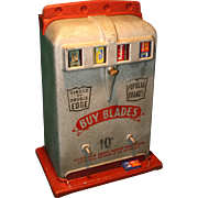 Vintage Razor Blade Vending Machine 1930's