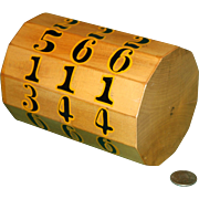 Evans' Chuck Log Vintage Gambling  Dice Game