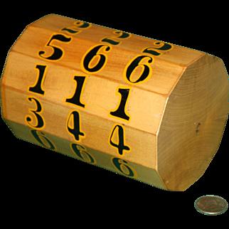 Evans' Chuck Log Vintage Gambling  Dice Game