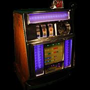 Vintage Pace Mechanical 5 Cent Slot Machine 1949