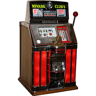 Jennings Sun Chief Lighted Mechanical Slot Machine 25¢